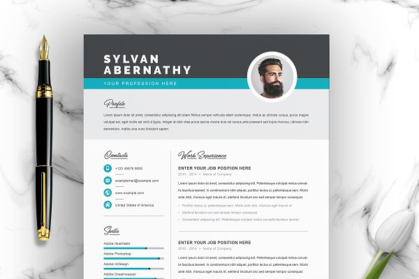 Clean Cv Word Resume Template Creative Illustrator Templates