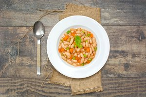 white beans with carrot