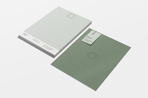 Topography Stationery Template