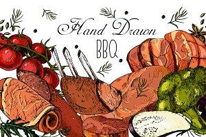 "Hand Drawn ""BBQ"""