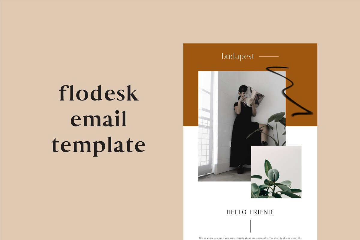 Budapest Flodesk Email Template