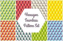 Hexagon Seamless Pattern Set