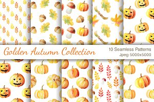 Watercolor Autumn Patterns