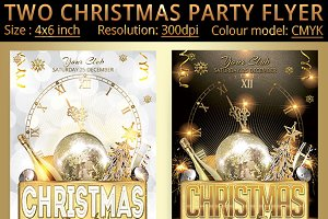 Two Christmas Party Flyer