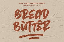Bread Butter • Mix & Match Font by  in Fonts