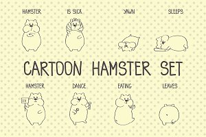 Cartoon hamster set
