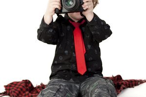 kid with the camera
