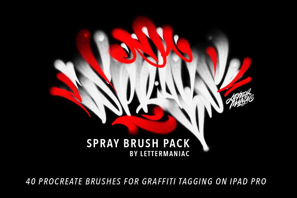 Spray brushes for Procreate app