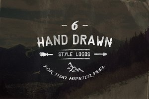Vintage Hand Drawn Style Logos
