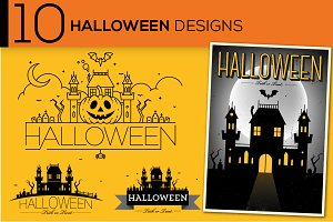 10 Vector Halloween Designs & Icons