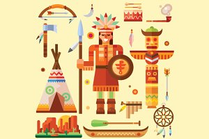 Native american illustration set!