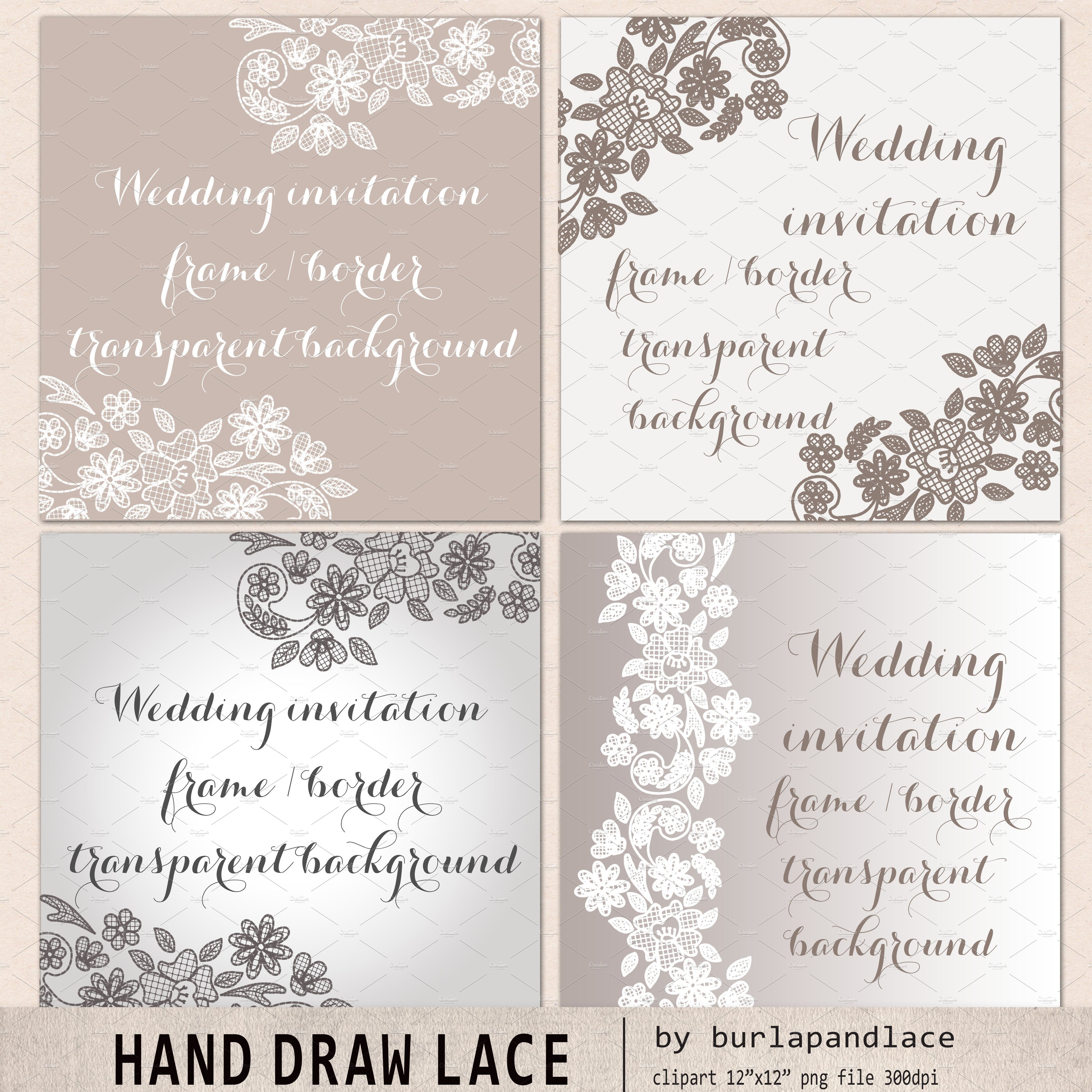 Lace frame ~ Illustrations ~ Creative Market