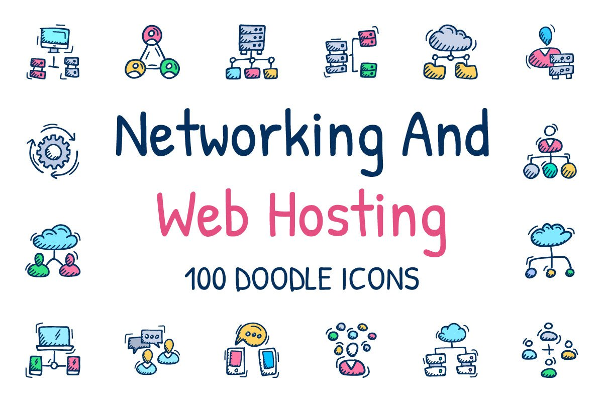 100 Networking And Web Hosting icons