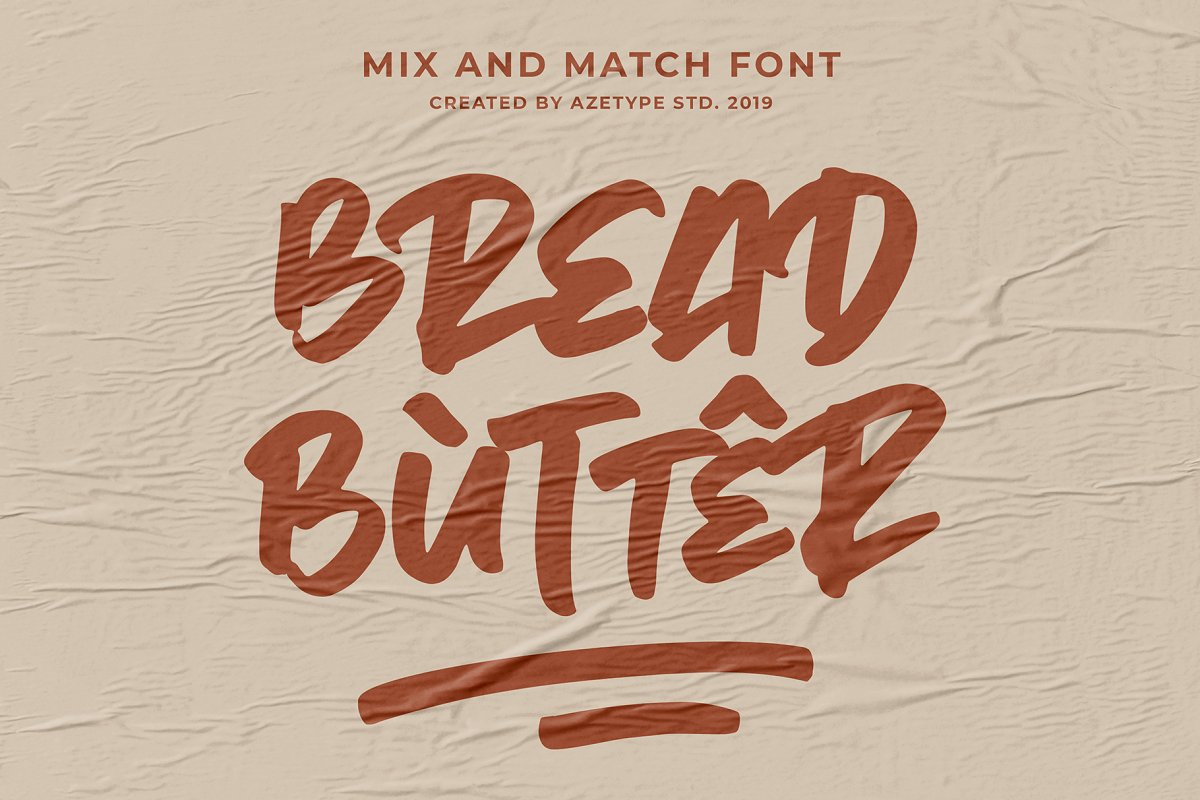 Bread Butter • Mix & Match Font