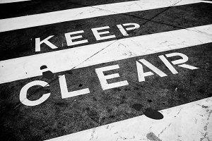 Keep Clear B&W