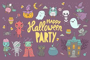 Cute Happy Halloween pattern