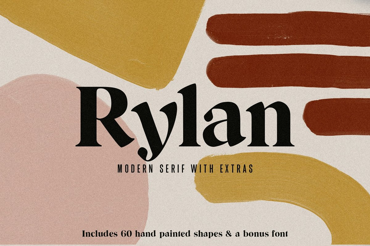 Rylan | Modern Serif w/ Free Extras in Serif Fonts - product preview 11