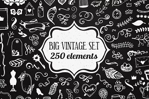 250 elements - Big Vintage Set