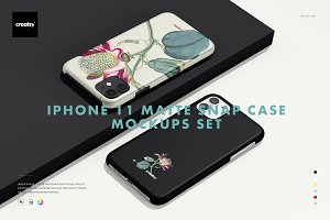 iPhone 11 Matte Snap Case Mockup Set