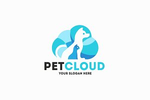 Pet Cloud Logo Template
