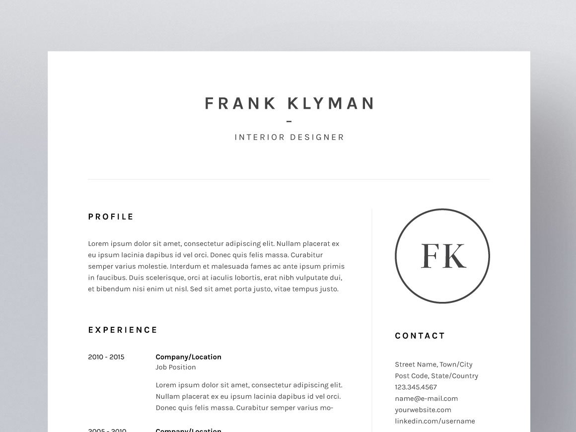 Event Coordinator Resume Sample Frank Klyman  Resumecv Template  Resume Templates  Creative Market Resumes For College Students Excel with Management Resume Template  Student Resumes Word