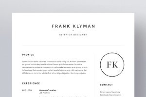 Frank Klyman - Resume/CV Template