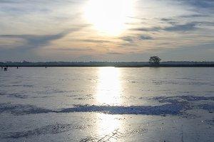 Skating on a frozen lake