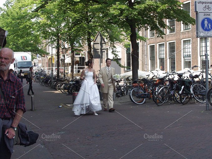 Just walking the streets...married! - People