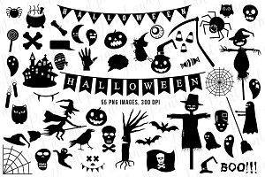 Halloween Clip art Black Silhouette