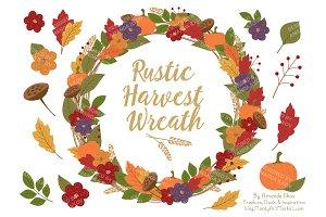 Autumn Harvest Wreath & Extras