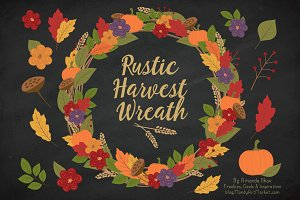 Autumn Harvest Wreath & Extras