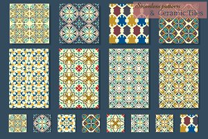 Collection of Azulejo Tile. Patterns