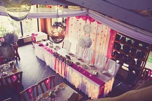 Wedding Table Pink Style