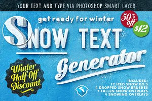 50% Off Snow Text Generator