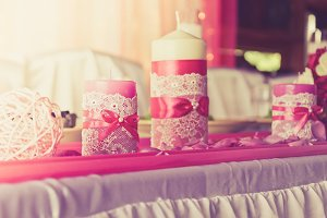 Decorative Candle on Wedding Table