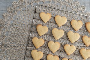 Heart shaped valentine's cookies