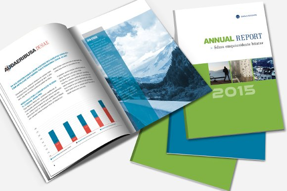 annual report brochure template brochure templates creative market. Black Bedroom Furniture Sets. Home Design Ideas