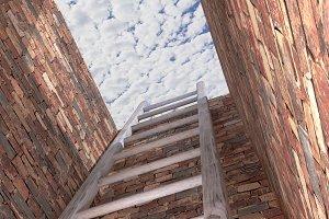 Ladder at sky