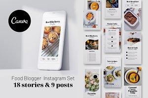 Food Blogger Instagram set CANVA