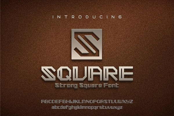 SQUARE - Strong Square font