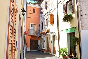 Traditional croatian street