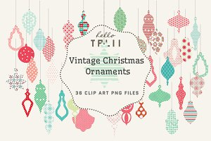 SALE! Vintage Christmas Ornaments
