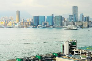 View to Kowloon island, Hong Kong
