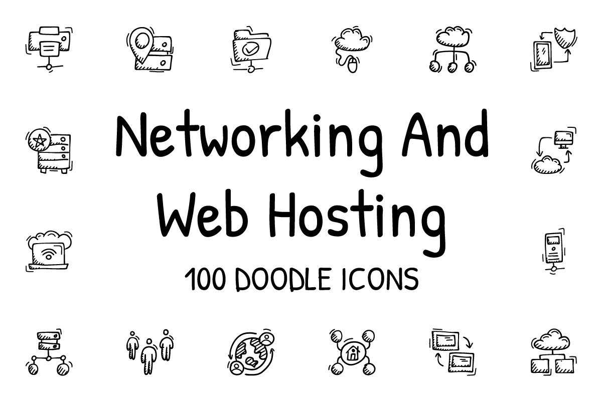 Networking And Web Hosting icons