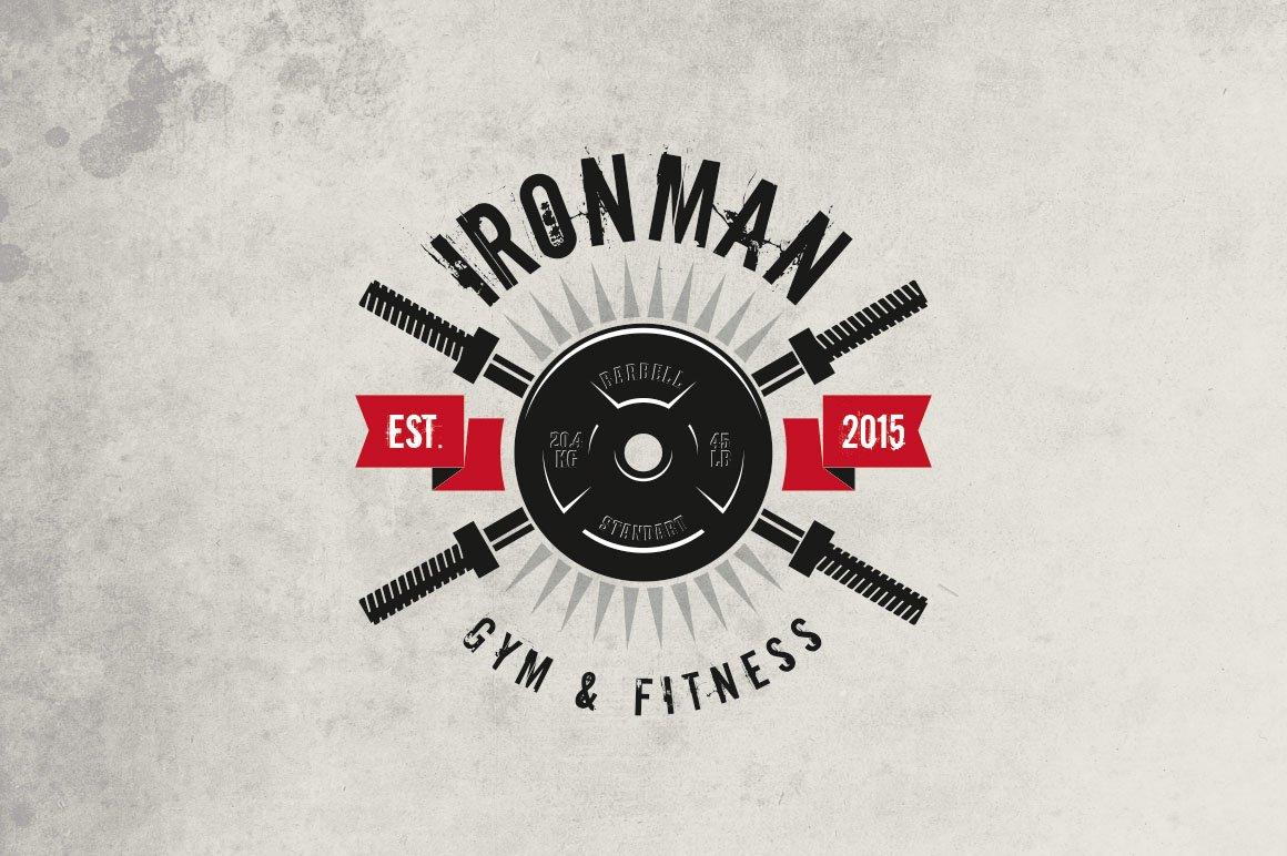 Gym Fitness Logo Templates Creative Market