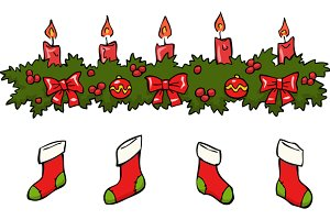 Cartoon holly berry candle socks
