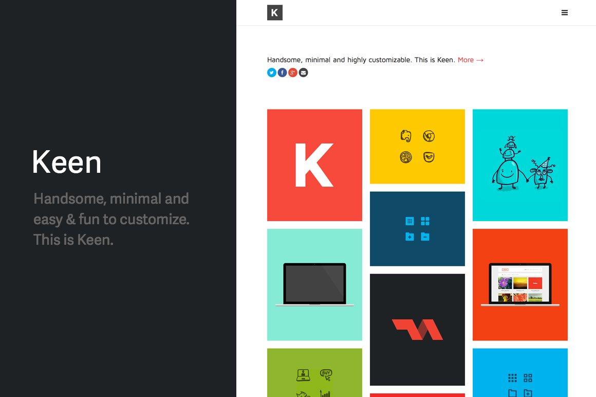 Keen - clean/minimal portfolio/blog ~ WordPress Themes ~ Creative Market