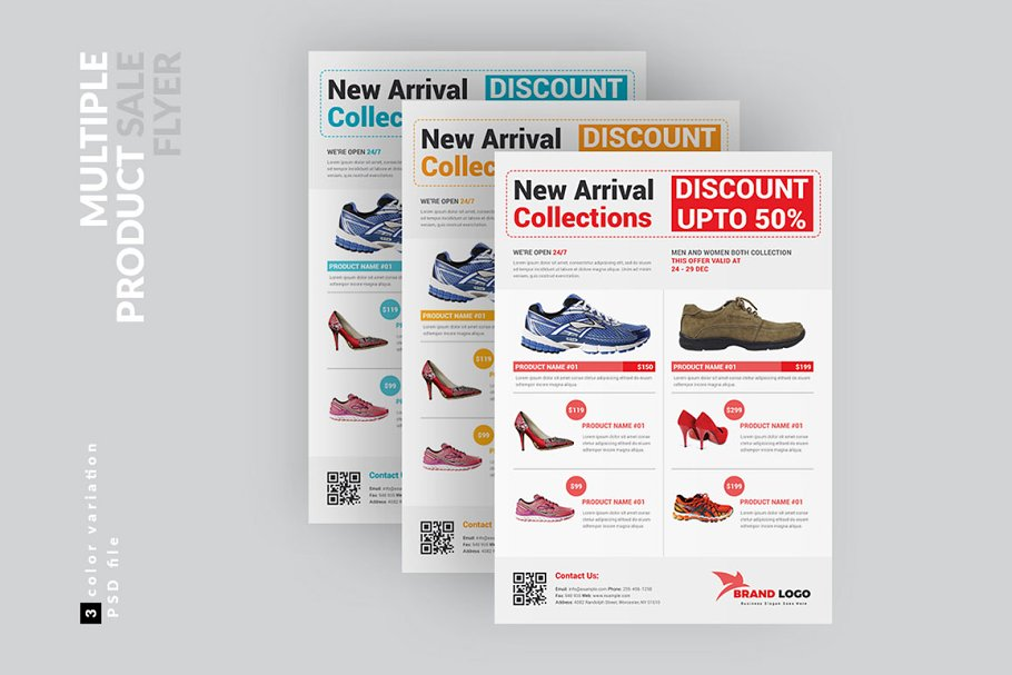 Multiple Product Sale Flyer Template