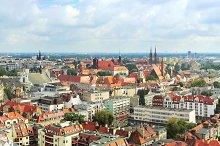 Skyline on Wroclaw, Poland