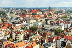 Skyline on Wroclaw, Poland